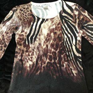Alberto Makali Animal Print Sweater